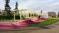 Playset or playground modern design outdoor children s in bijlmerpark amsterdam in holland Stock Photography