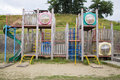 Playthings without children at playground Stock Photo