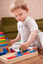 Playtime in playroom Stock Photos