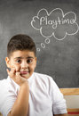 Playtime text on the board Stock Image