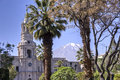 Plaza de armas with el misti volcano arequipa in peru Royalty Free Stock Photography