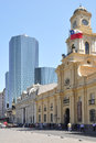 Plaza de armas santiago de chile municipality of national historical museum and office buildings on on february in Royalty Free Stock Images