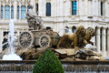 Plaza de Cibeles Fountain, Madrid Stock Image