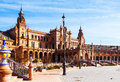 Plaza de Espana in  day time at Sevilla Royalty Free Stock Photo