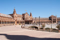 Plaza de espana en sevilla Stock Photography