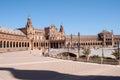 Plaza de espana en sevilla Royalty Free Stock Photo