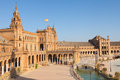 Plaza de Espana in Sevilla, Spain. Royalty Free Stock Photo