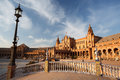 Plaza de Espana in Sevilla, Spain Royalty Free Stock Photography