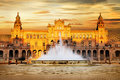 Plaza de Espana, Sevilla, Spain Royalty Free Stock Photo