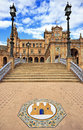 Plaza de espana in seville andalusia spain Stock Photos