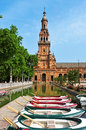 Plaza de Espana in Seville, Spain Stock Photography