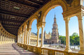 Plaza de espana in seville spain Royalty Free Stock Images