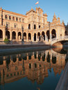 Plaza de Espana in Seville at sunset Stock Image