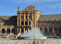 Plaza de espana spain square pavilion fountain seville spain Stock Photography