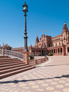 Plaza de Espana (Square of Spain) in Seville Royalty Free Stock Photo