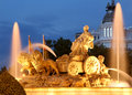 Plaza de la Cibeles, Madrid, Spain Royalty Free Stock Image