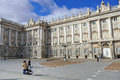 Plaza de oriente en royal palace madrid Royalty-vrije Stock Afbeelding