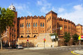 Plaza de toros monumental in barcelona view of summer Royalty Free Stock Photography
