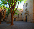 Plaza In Gothic Quarter Royalty Free Stock Photography