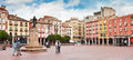 Plaza Mayor in Burgos, Spain Stock Photography