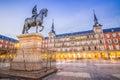 Plaza Mayor of Madrid Royalty Free Stock Photo