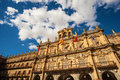 Plaza mayor of salamanca main square spain baroque th century the old city was declared a unesco world heritage site Royalty Free Stock Photography