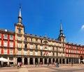 Plaza Mayor in sunny day. Madrid, Spain Royalty Free Stock Photo