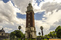 Plaza san martin buenos aires and the englishmen clock tower and blue sky argentina Stock Photo