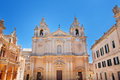 Plaza san paul st paul s cathedral malta mdina Stock Photography