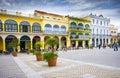 Plaza Vieja, Old Havana, Cuba Royalty Free Stock Photo