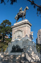 Plaza zabala montevideo uruguay the equestrian monument to bruno mauricio in ciudad vieja downtown Royalty Free Stock Photography