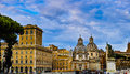 The Plazza Venezia Royalty Free Stock Photo
