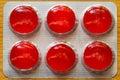 Píldoras rojas Fotos de archivo