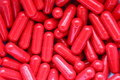 Píldoras rojas Imagen de archivo