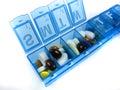Píldoras y medicinas Fotos de archivo libres de regalías