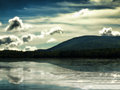 Pleasant lake in the adirondack mountains Royalty Free Stock Photography