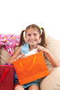 Pleasantly surprised girl happy Stock Photography
