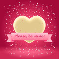 Please be mine valentine s postcard asking of love and reciprocity Stock Images
