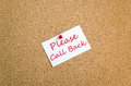 Please Call Back Note Concept
