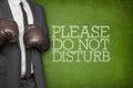 Please do not disturb on blackboard with