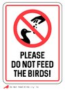 Please Do not feed the birds sign Royalty Free Stock Photo