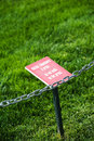 Please do not walk on the grass Royalty Free Stock Photo