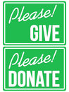 Please donate and give green sign set a vector based illustration of Stock Photography