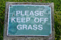 Please Keep Off Grass Sign Stock Photo
