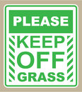 Please Keep off the Grass Sign vector Royalty Free Stock Photo