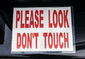 Please Look Don't Touch Sign Royalty Free Stock Photo