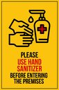 Please sanitize your hands signboard to keep infections away