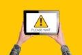 Please Wait Message On Digital...