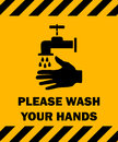 Please Wash Your Hands Sign.