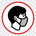 `Please wear a face mask` sign Royalty Free Stock Photo